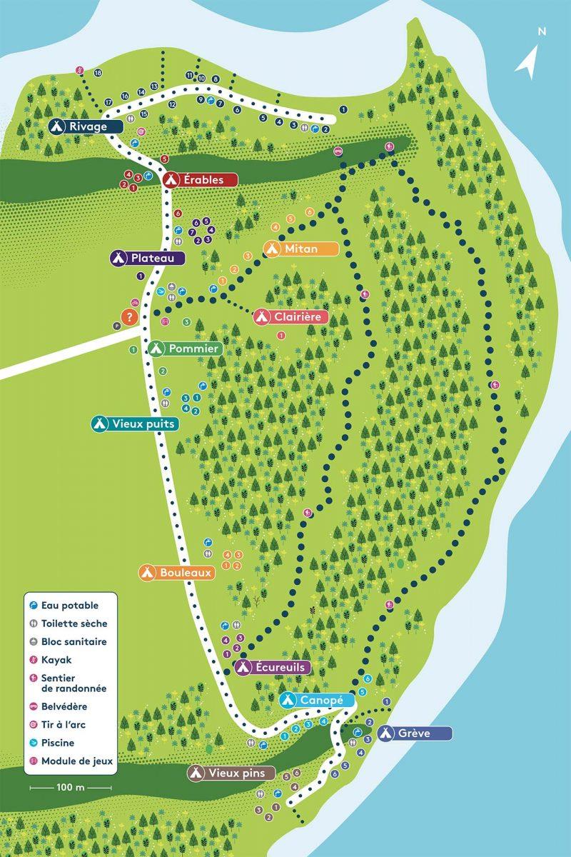 Carte du Camping de la Pointe